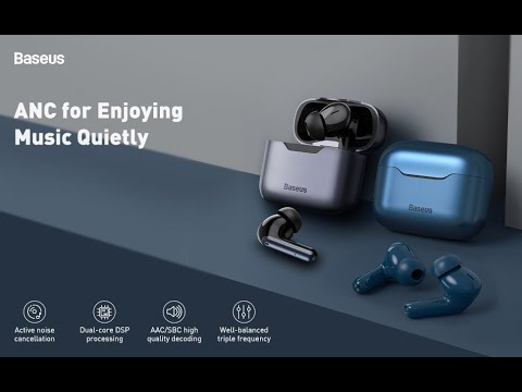 Baseus SIMU ANC S1 / S1 Pro True Wireless Earphone (Hi Fi/ Stereo, AAC/SBS, Dual Core DSP, 5.1